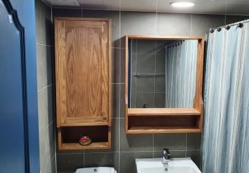 욕실수납장&거울